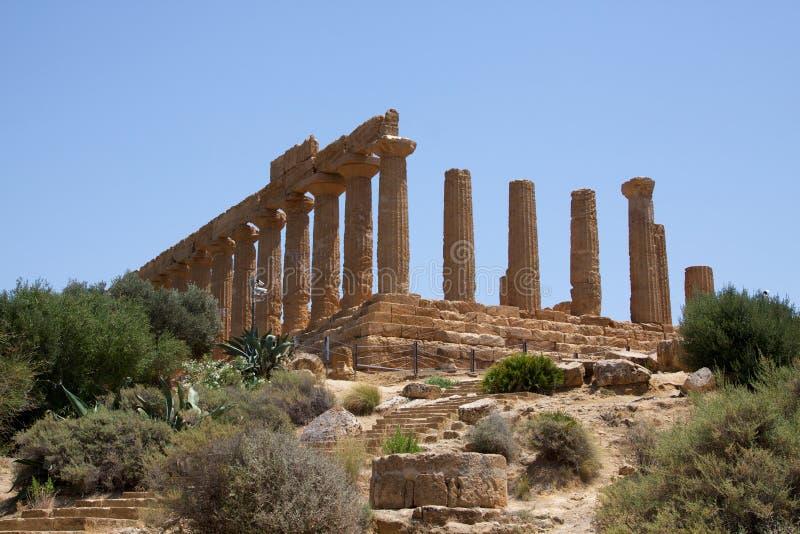 Tempel von Juno Lacinia Agrigent 2 stockfotos