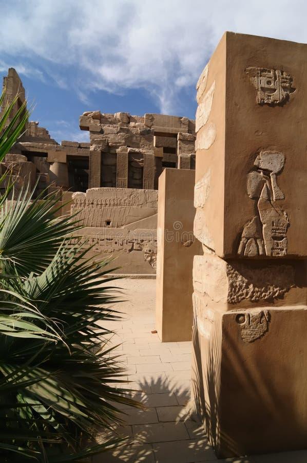 Tempel von Karnak, Ägypten lizenzfreie stockfotos