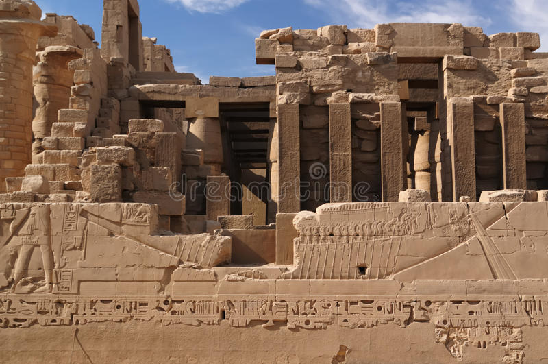 Tempel von Karnak, Ägypten lizenzfreies stockfoto