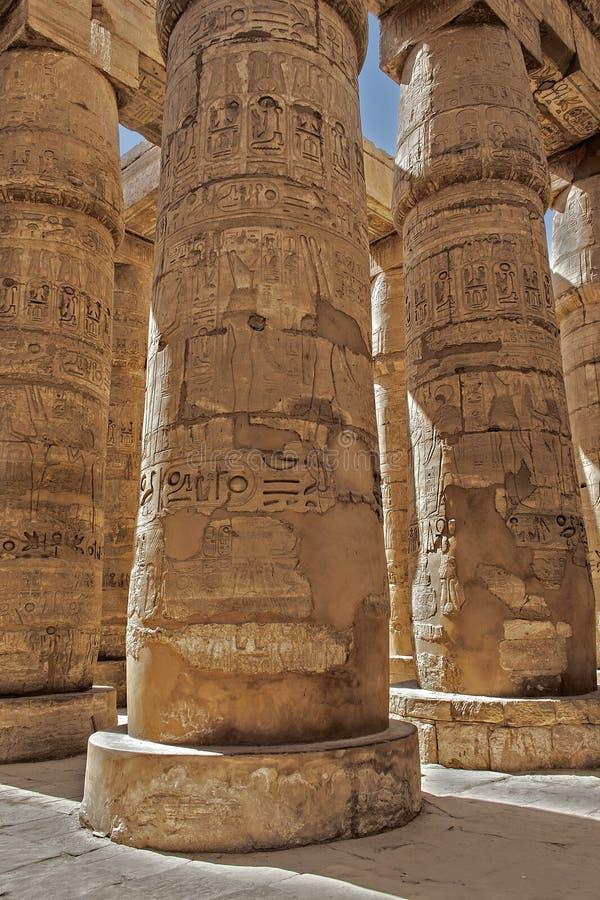 Tempel von Karnak lizenzfreie stockbilder