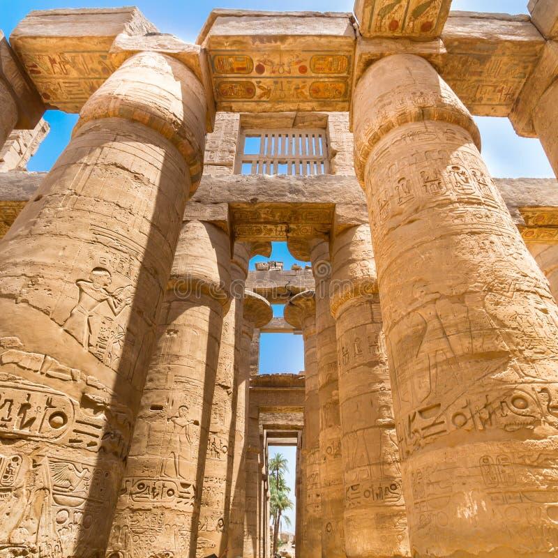 Tempel von Karnak, Luxor, Ägypten lizenzfreies stockfoto