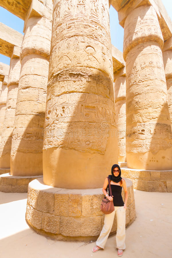 Tempel von Karnak, Luxor, Ägypten lizenzfreies stockbild