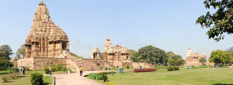 Tempel von Khajuraho auf Indien lizenzfreies stockbild