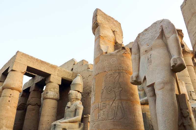 Tempel von Luxor stockfotografie