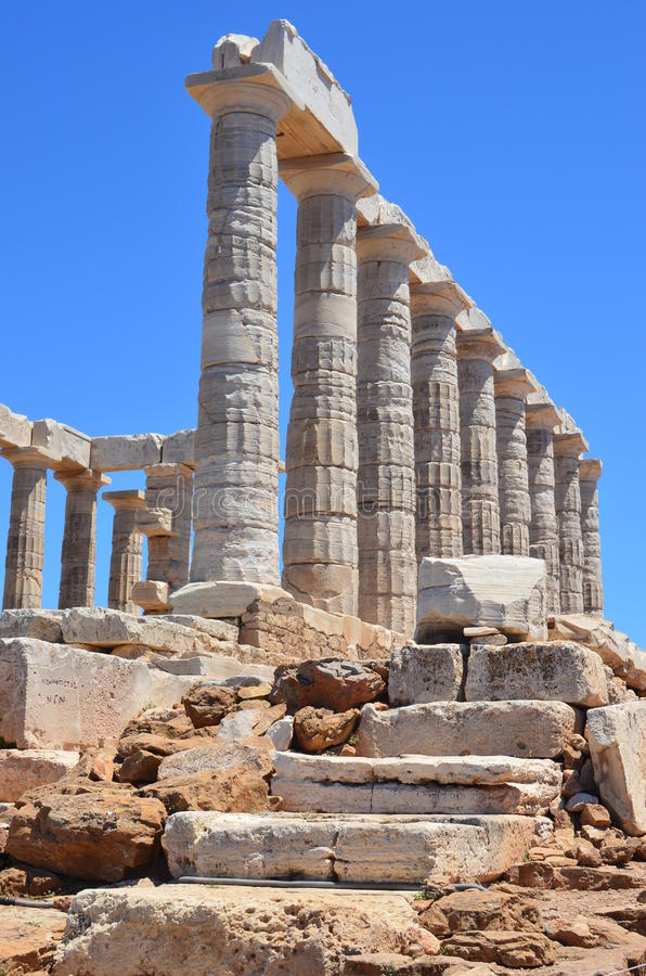 Tempel von Poseidon-2 lizenzfreie stockfotografie