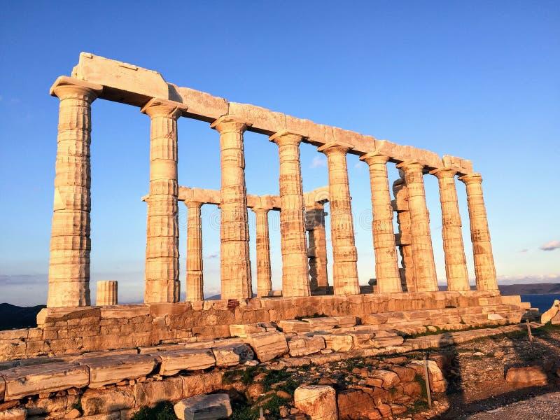 Tempel von Poseidon am Umhang Sounion stockbild