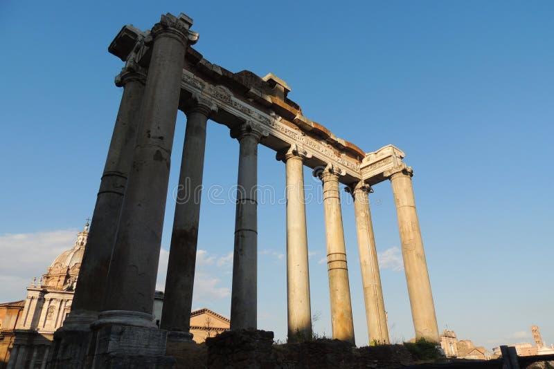 Tempel von Saturn, Rom stockfotos