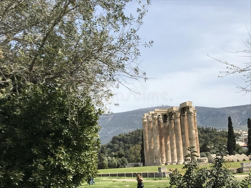Tempel von Zeus lizenzfreies stockbild