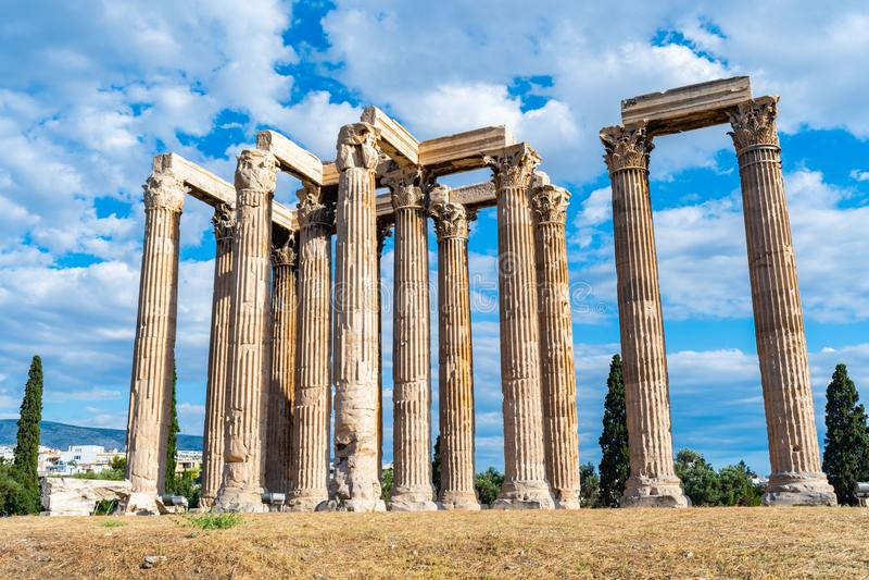 Tempel von Zeus stockfoto
