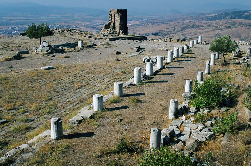 Tempel von Zeus, Pergamon lizenzfreies stockbild