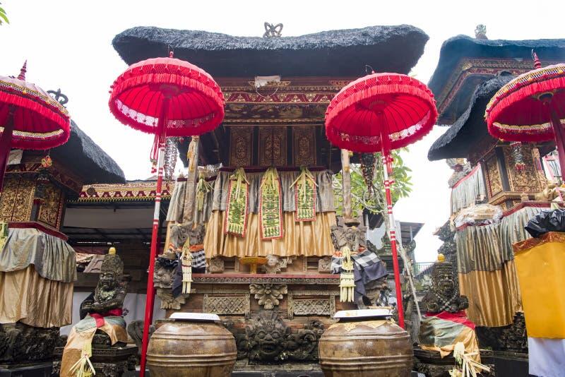Tempel voor viering wordt verfraaid die royalty-vrije stock afbeeldingen