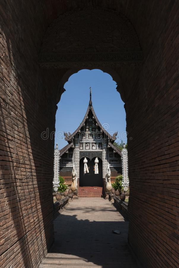 Tempel Wat Lok Molee in Chiang Mai, Thailand royalty-vrije stock afbeeldingen