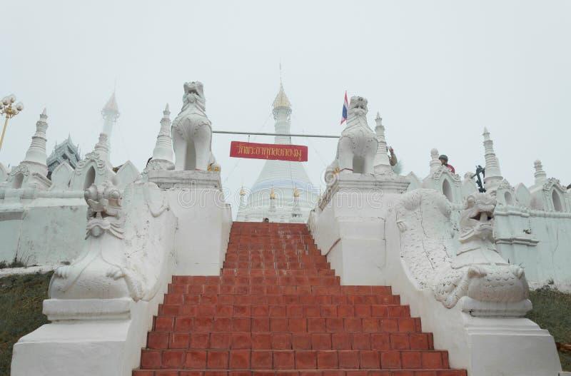 Tempel Wat Phra That Doi Kongs MU, Mae Hong Son, Thailand lizenzfreie stockfotografie
