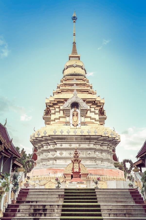 Tempel Wat Prathat Doi Saket Buddhas Thailand lizenzfreies stockfoto