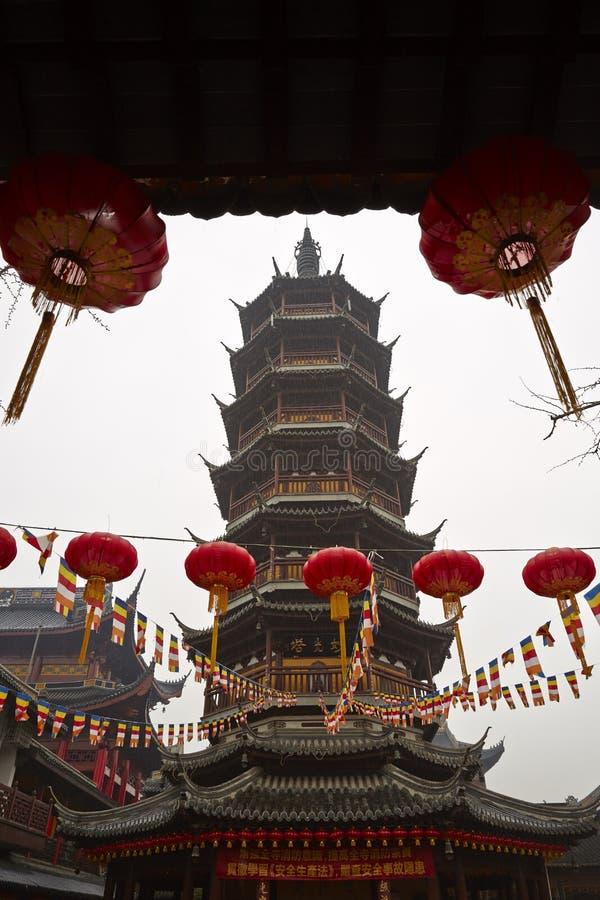 Tempel Wuxis Nanchan, China lizenzfreie stockbilder