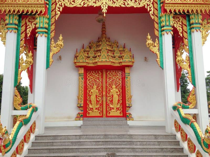 Tempeldeur royalty-vrije stock afbeelding