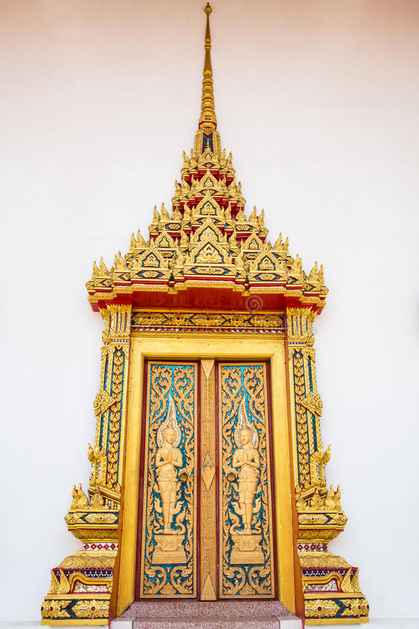 Tempeldeur royalty-vrije stock foto
