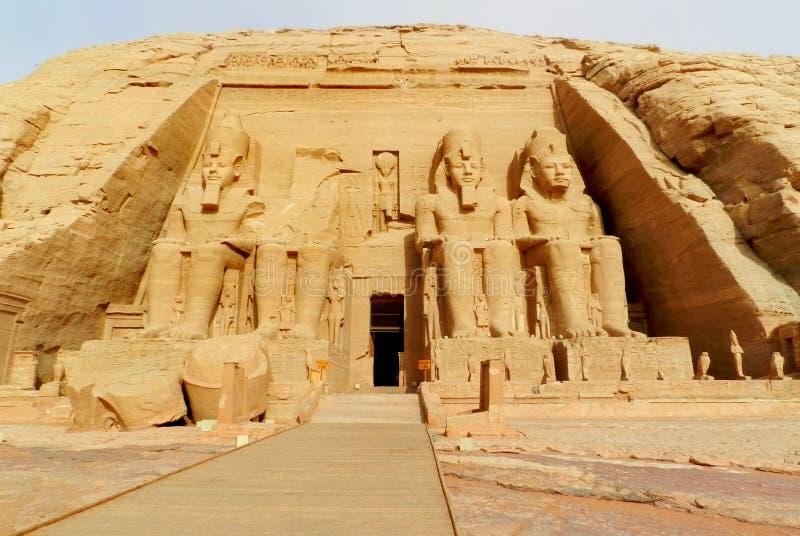 Tempelet av Abu Simbel i Egypten arkivbilder