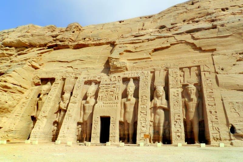 Tempelet av Abu Simbel i Egypten arkivfoto