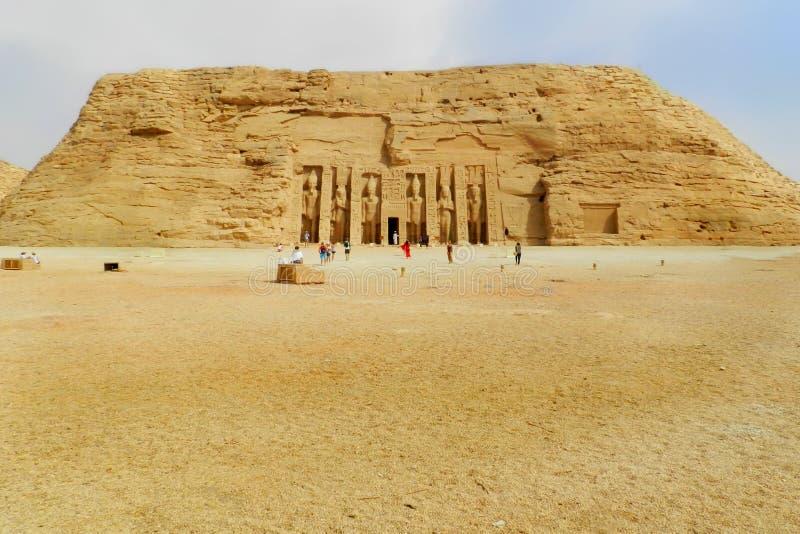 Tempelet av Abu Simbel i Egypten royaltyfri foto