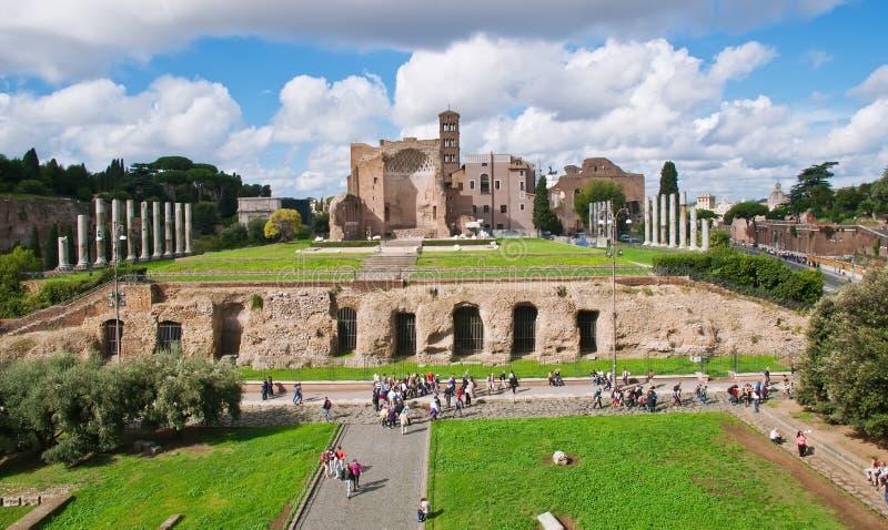 Tempelet av Venus och Roma i Rome royaltyfri fotografi