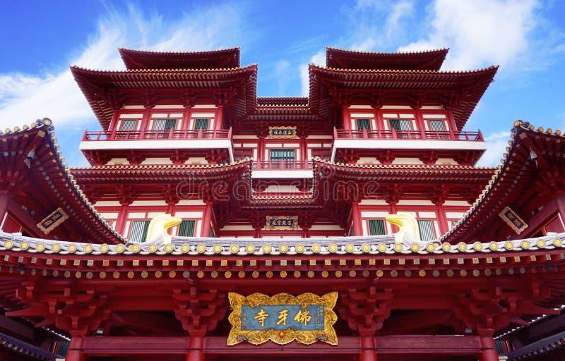Tempelet för Buddha tandrelik arkivbild