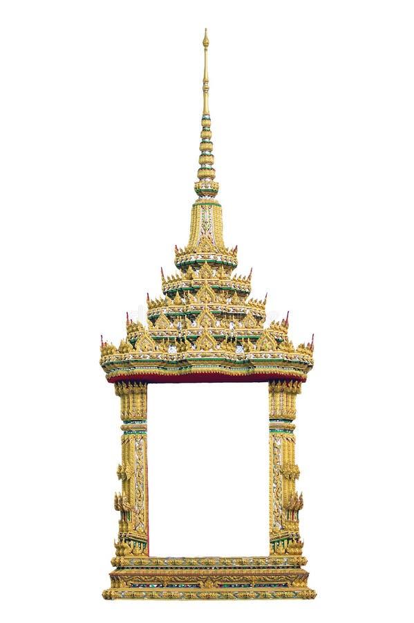 Tempelfenster getrennt lizenzfreie stockbilder