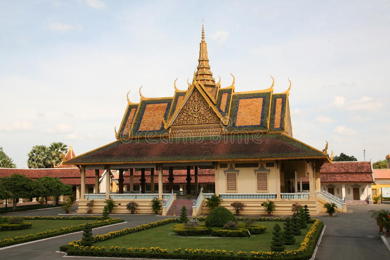 Tempelgebäude. Kambodscha. lizenzfreie stockbilder