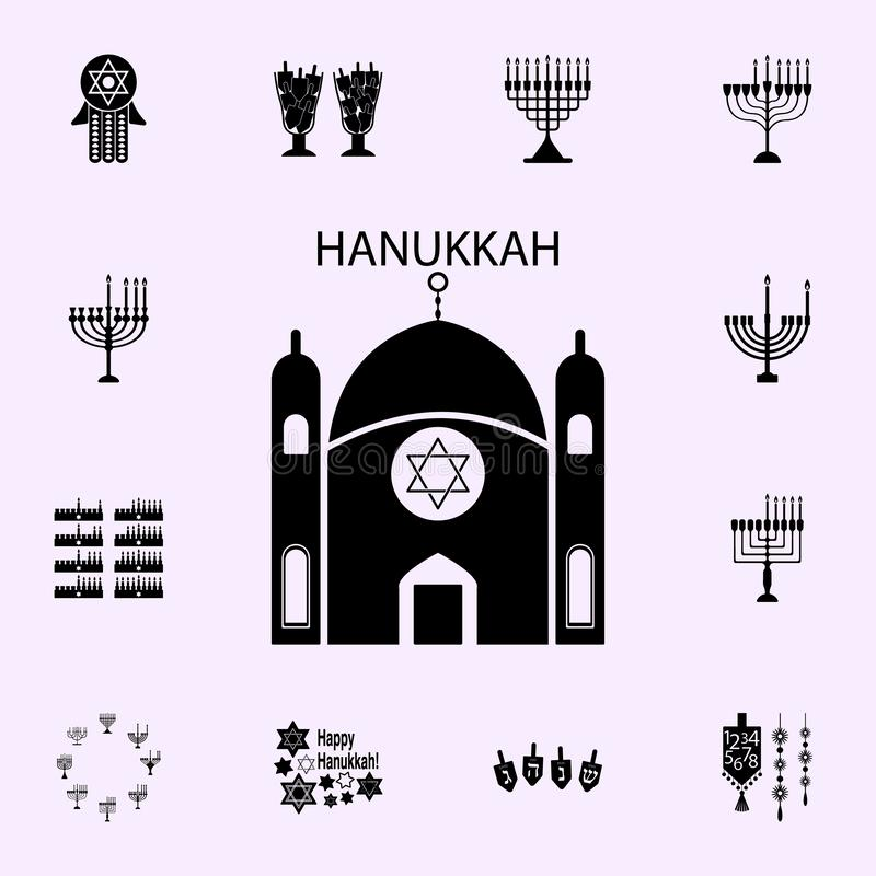 Tempelhaube der Felsenikone Chanukka-Ikonenuniversalsatz f?r Netz und Mobile lizenzfreie abbildung