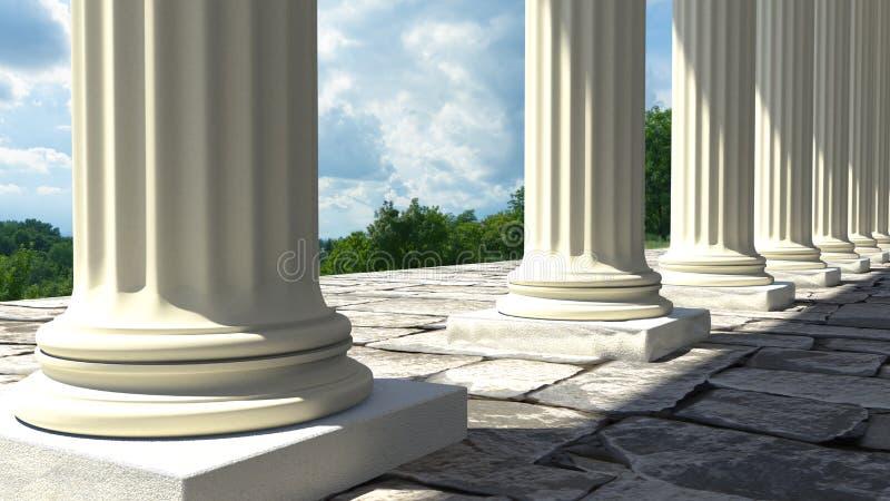 Tempelkolommen stock fotografie