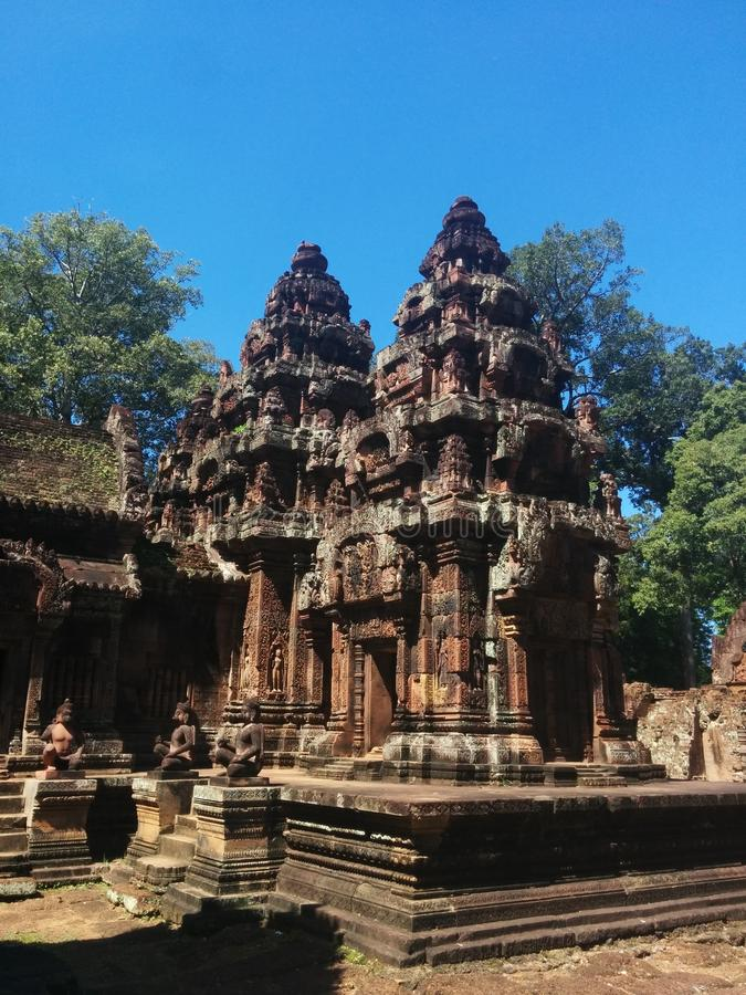 Tempelkomplex in Angkor Wat lizenzfreie stockbilder