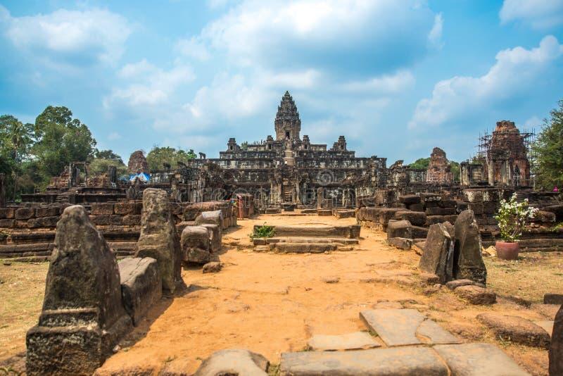 Tempelkomplexet av Angkor arkivfoton