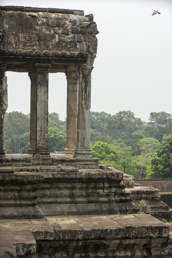 Tempelkomplexet av Angkor Wat cambodia royaltyfria bilder