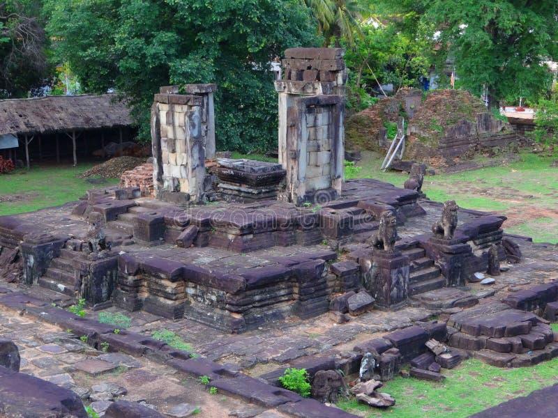 Tempelkomplexet av Angkor Wat Cambodia arkivbild