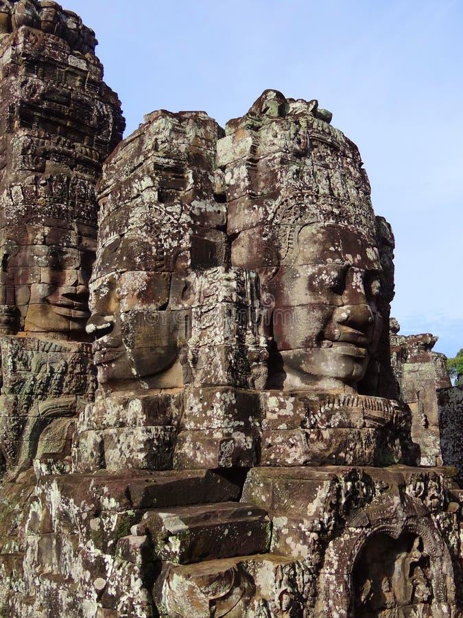 Tempelkomplexet av Angkor Wat Cambodia royaltyfri fotografi