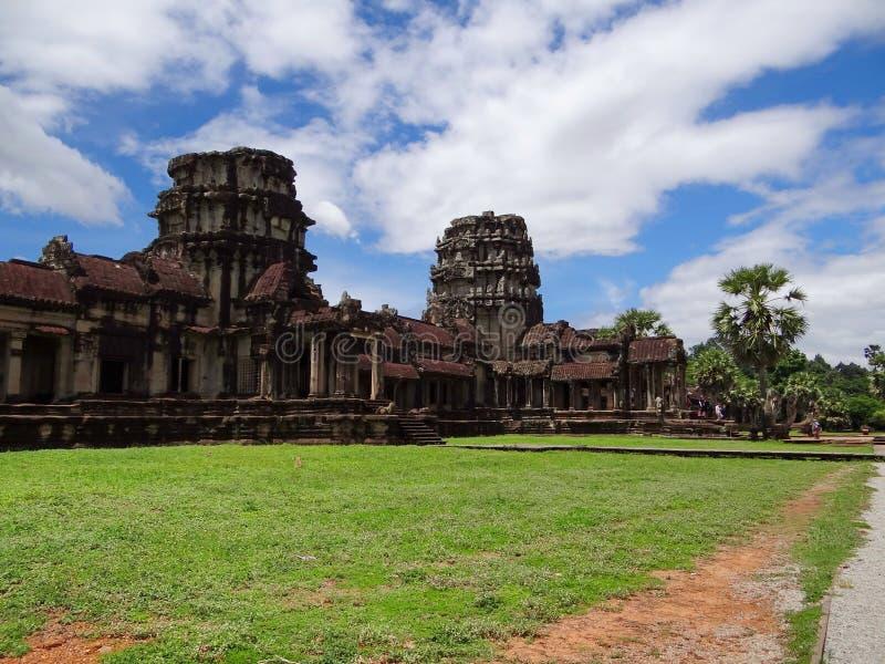 Tempelkomplexet av Angkor Wat, Cambodja royaltyfria foton