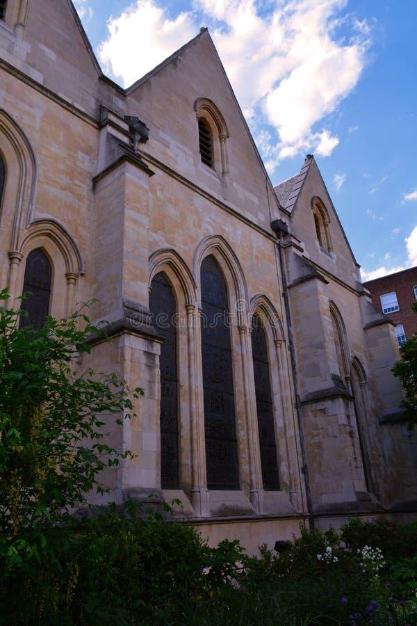 Tempelkyrka - medeltida kyrka som byggs av riddarna Templar, London, UK royaltyfria bilder