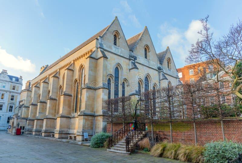 Tempelkyrka som byggs av riddarna Templar, århundrade för th 12, London, UK royaltyfria foton