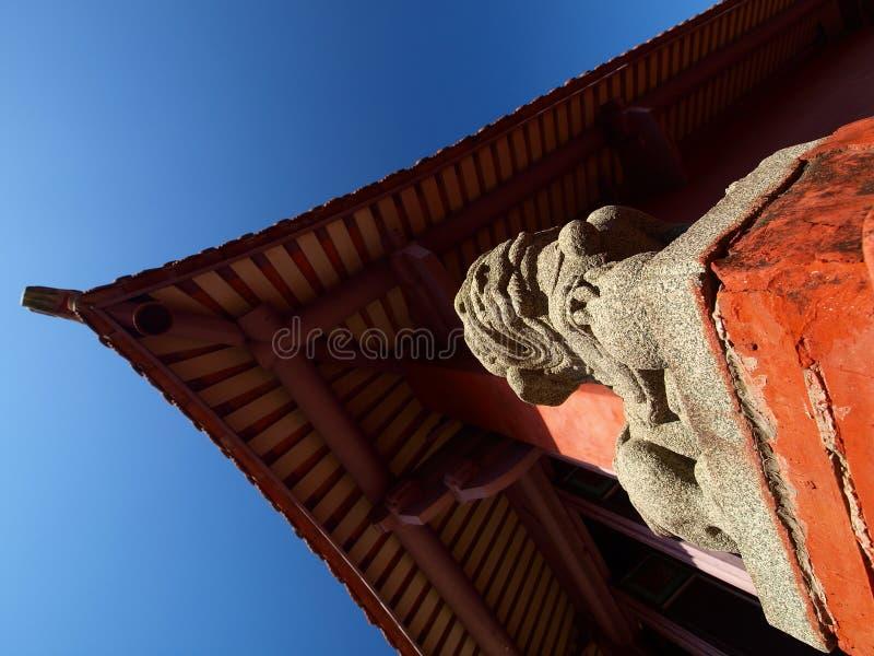 Tempellöwe lizenzfreie stockbilder