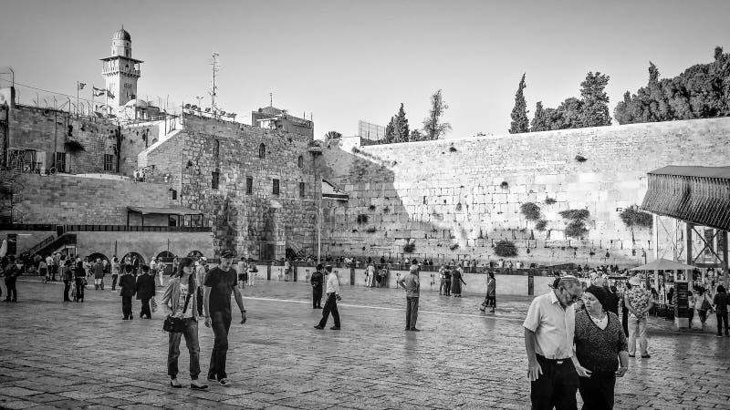 Tempelmontering och den västra väggen arkivfoton