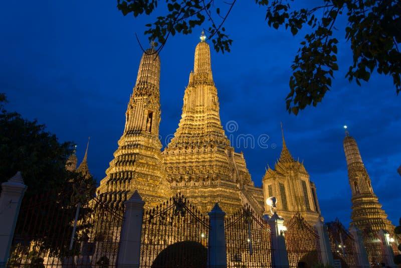Tempelnolla-gryning, Bangkok arkivfoton