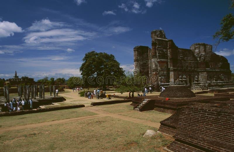 Tempelruines van de oude koningsstad Polonnaruwa op Sri Lanka royalty-vrije stock foto