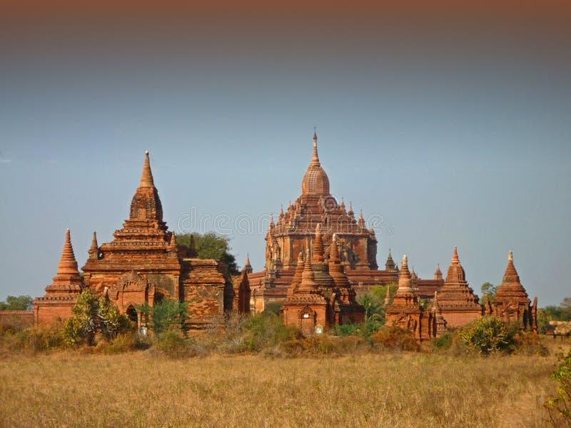 Tempels in Bagan Myanmar royalty-vrije stock afbeelding