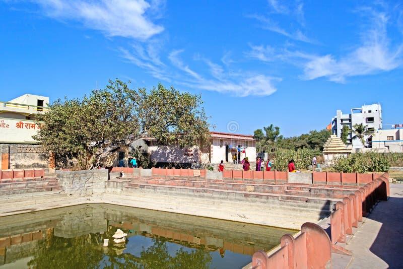 Tempels in Bhalka Tirtha stock foto's