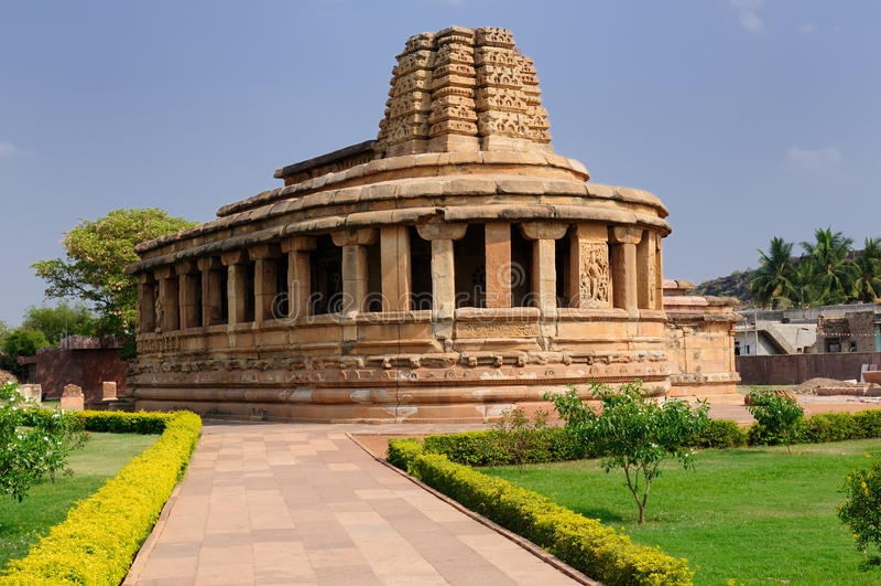 Tempels India - Aihole royalty-vrije stock afbeeldingen