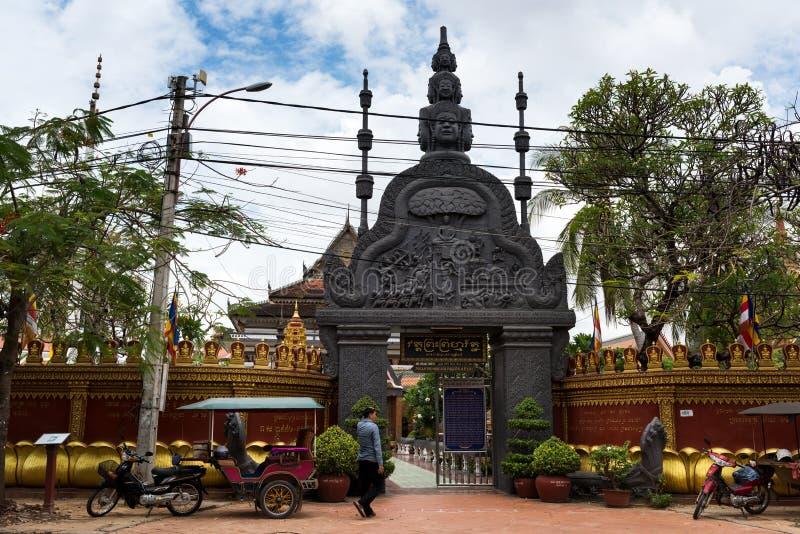 Tempels, Naad oogst, Kambodja stock fotografie