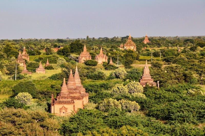Tempels van Bagan in het Gebied van Mandalay van Birma, Myanmar royalty-vrije stock afbeeldingen