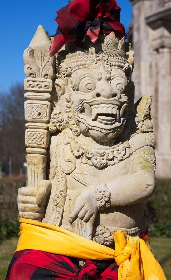 Tempelstaty av Bali - museum av etnologi - Hamburg arkivfoton