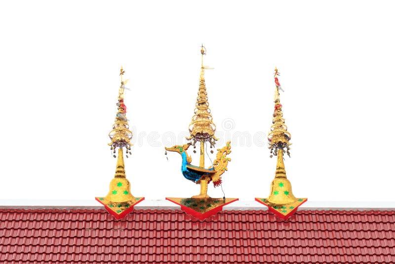 Tempeltak i Wat San Tai, San Kamphang, Chiang Mai, Thailand arkivfoto