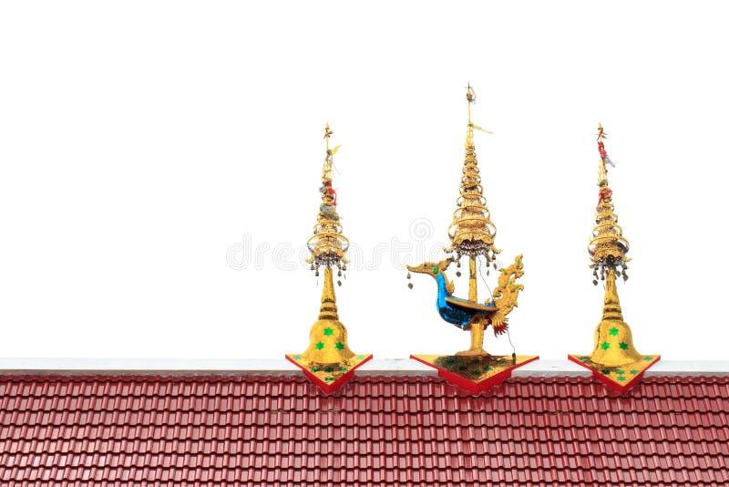 Tempeltak i Wat San Tai, San Kamphang, Chiang Mai, Thailand fotografering för bildbyråer